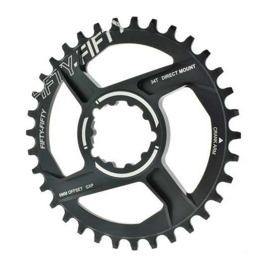 FIFTY-FIFTY MTB Crankset Chainwheel Chainring Aluminum Alloy Repair Bicycle Parts For GXP crank Direct Mount Offset 6MM
