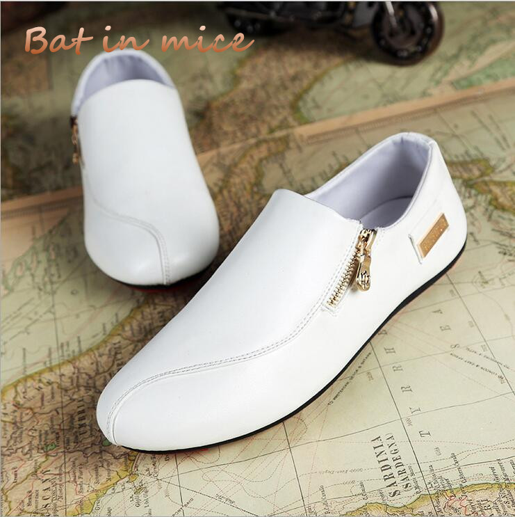 2018 summer New Spring Fashion Oxford Business Men Shoes PU Leather zipper Soft Casual Breathable Men's Flats Zip Shoes C148 men shoes tide shoes casual fashion oxford business men shoes leather high quality soft casual breathable men s flats man shoes