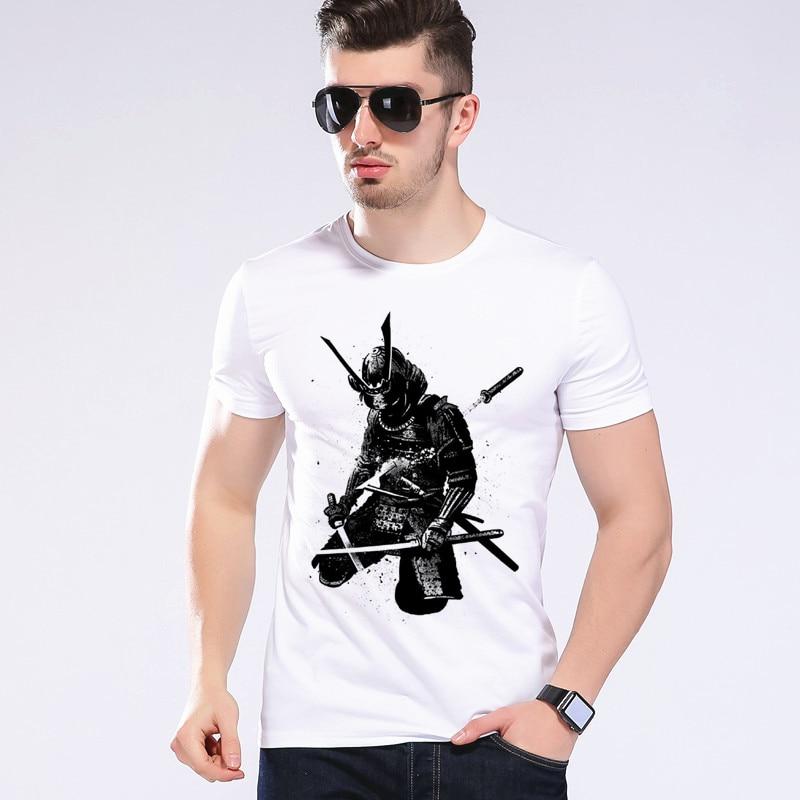 새로운 패션 Anime 인쇄 T- 셔츠 일본 사무라이 편지 전사 3D T 셔츠 남자 / 여자 Tees Tops 브랜드 의류 Moe Cerf 2D-24 #