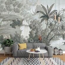 Beibehang пользовательские обои Европейский ретро Ностальгический ручная роспись тропический лес банан Пальма диван тв фреска фон 3D обои