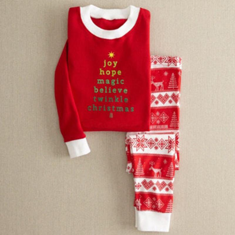 Clearance Christmas soft Nightwear women men Kids Baby Family Matching cotton Clothes set Pajamas Set Xmas Gift
