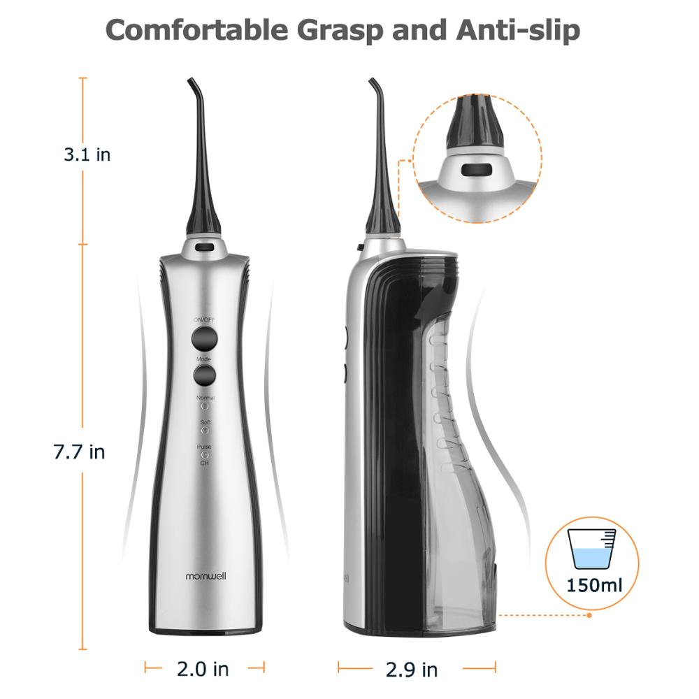Hydropulseur Rechargeable jet dentaire Portable irrigateur dentaire Dents Clean Oral Soie Dentaire jet d'eau Irrigator - 5