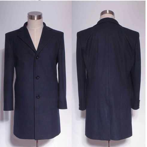 f5622be4eb ... Doctor Who Cosplay Costumes Who is Doctor Twelveth 12th Dr. Dark Blue  Frock Coat Custom ...