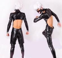 Free shipping Anime Tokyo Ghoul Kaneki Ken Cosplay Costume Cosplay Suit Men's Size S M L XL Jacket + pant