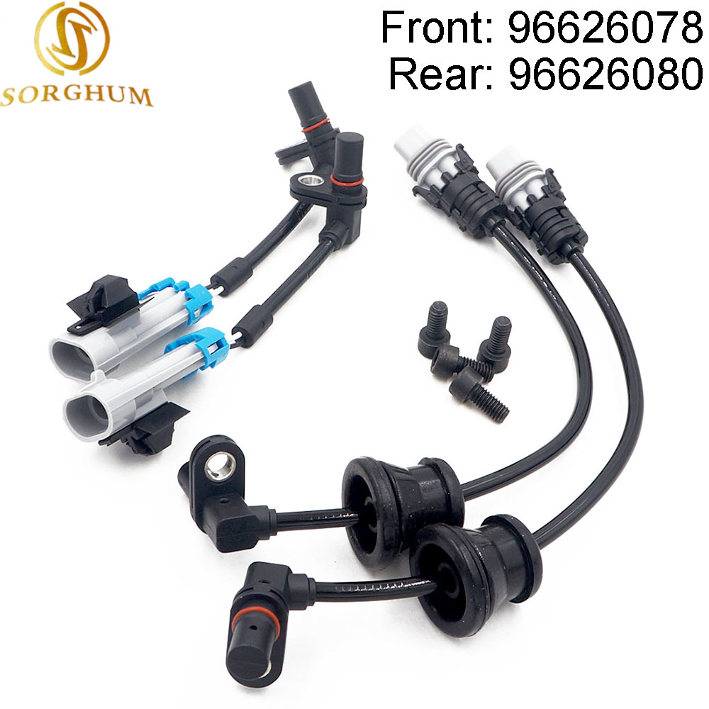 New (SET) Front Rear Set ABS Wheel Speed Sensor For Chevrolet Captiva Equinox Pontiac Saturn 96626078 96626080New (SET) Front Rear Set ABS Wheel Speed Sensor For Chevrolet Captiva Equinox Pontiac Saturn 96626078 96626080