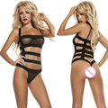 sexy lingerie hot black bandages splice perspective Gauze  underwear erotic lingerie sexy costumes