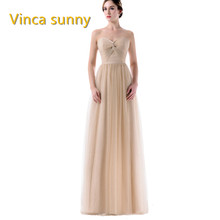 Vinca sunny Elegant Women Chiffon V Neck Bridesmaid Dresses cheap vestido  festa casamento longo madrinha dress for bridesmaid 81ece651f964