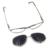 Laura Fadas Clássico Designer de Marca com Óculos de Sol Clip Sobre Miopia Frame Ótico de Aço Inoxidável e UV400 óculos de Sol