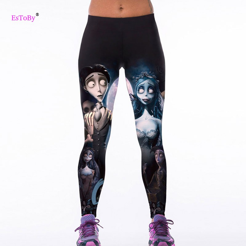 Fitness Leggings Cheap: 2016 New Fashion Women Ladies Corpse Bride 3D Printing