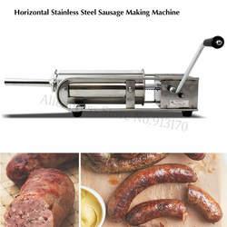 7L горизонтальная нержавеющая сталь колбасный шприц наполнитель машина мясо Salami чайник ручной работы устройство для испанских Чуррос