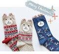 New 2016 Christmas Stereo Socks Women Warm Soft Cotton Cute Socks Kawai Bear Stereo Socks Xmas Christmas socks S06