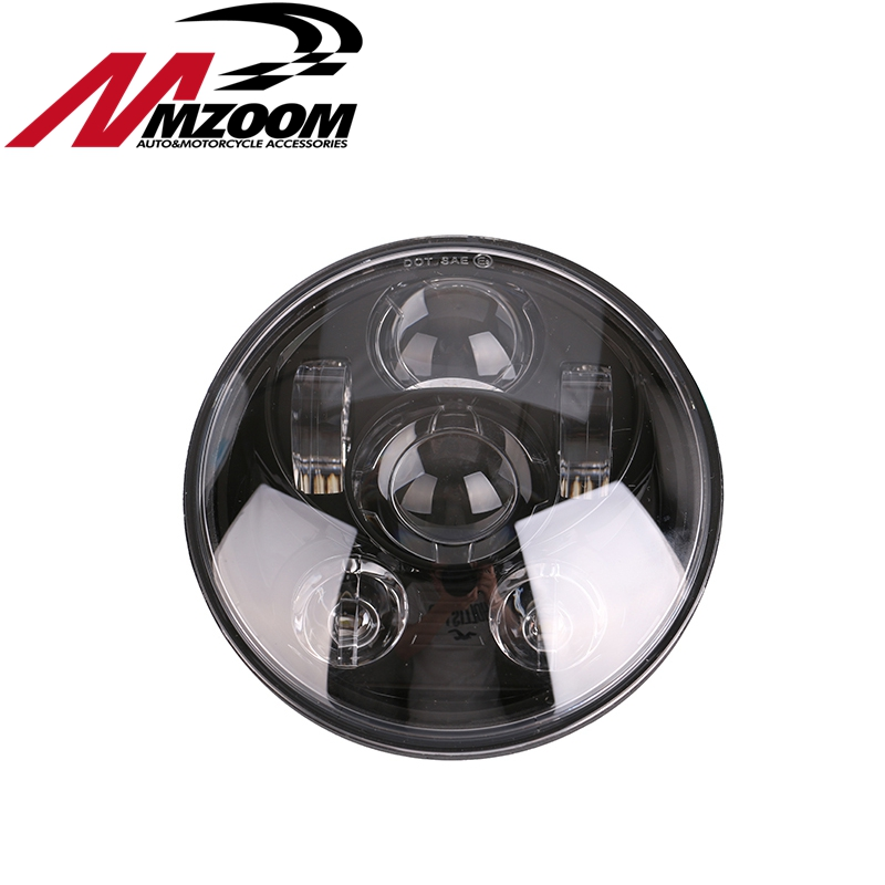 2016 New Motos Accessories 5.75 headlight motorcycle 5 3/4 led headlight for 5 3/4 Motorcycle Black Projector Daymaker