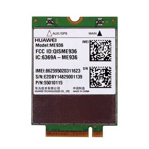 Card for Huawei ME936 NGFF M.2 4G LTE WWAN Wireless Wifi Card EDGE/GPRS/GSM,DC HSPA+/HSPA dell sony samsung asus acer-in Network Cards from Computer & Office    1