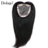 5x5 Toupee Hair For Women Volume Extension 100% Brazilian Virgin Human Hair Black Clip Ins Inch Dolago 1 Piece 130% Density