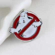 Free shipping Ghostbusters brooch pins fashion brooch jewelry lapel pin men women (Order 10pc will send you 11pc)