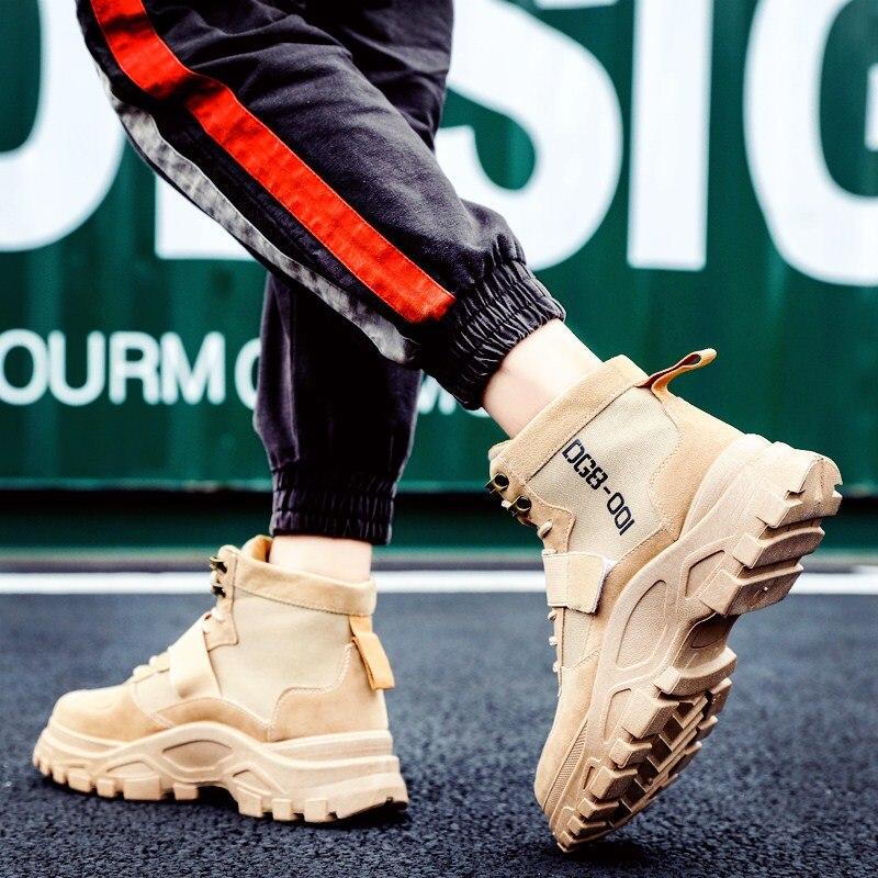 ZSUO/брендовые новые весенние мужские рабочие ботинки; кожаные ковбойские ботильоны в стиле ретро; высококачественные ботинки без застежки; ... - 2