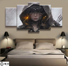Hot Sales Without Frame 5 Panels Picture Princess Phantom Animation Posters Painting Artwork Wall Art Canvas Wholesale