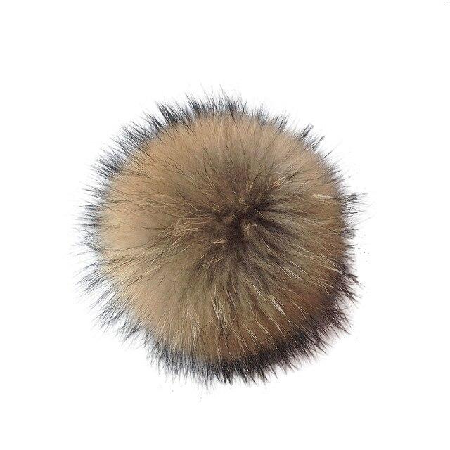 1 Pc Fluffy Faux Fur Bola pom pom para Lenços Chapéu Saco De Mão Chaveiro Acessório Novo
