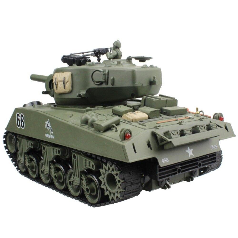 2.4G دبابة مع جهاز للتحكم عن بُعد USA شيرمان M4A3 عربة 15 قناة 1/20 التكتيكية مركبة قتال رئيسية دبابة عسكرية نموذج مع اطلاق النار هواية لعب-في دبابات تعمل بالتحكم عن بعد من الألعاب والهوايات على  مجموعة 3