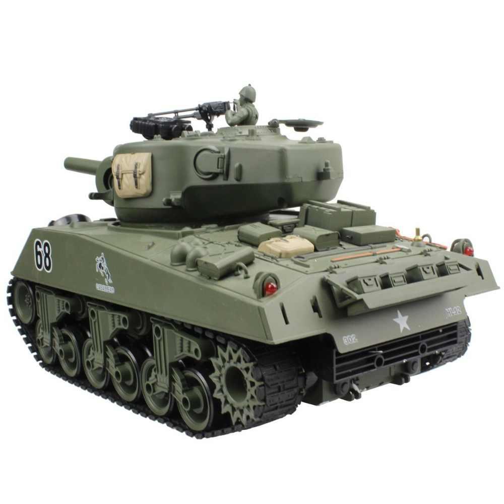 2.4G دبابة مع جهاز للتحكم عن بُعد الولايات المتحدة الأمريكية شيرمان M4A3 عربة 15 قناة 1/20 التكتيكية مركبة الرئيسية معركة عسكرية نموذج دبابات مع ألعاب هواية تبادل لاطلاق النار
