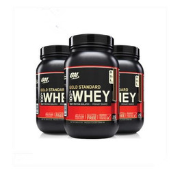En Optmont, suplemento en polvo de proteína de suero estándar dorado, nutrición, fitness, fortalecimiento muscular, suero de leche, 2 libras, envío gratis