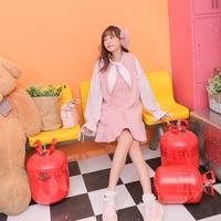 Princess sweet lolita dress Spring Soft Sister Lotus Leaf Hem Screen Pearl Mink Fur Ball Pink Dress fashion women VC249
