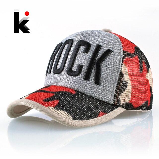 Acoplamiento del verano gorra de béisbol mujeres moda carta roca sombrero  para hombres algodón Hip Hop ac5703a8cd1