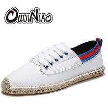 e41ecf9615 OUDINIAO zapatos para Hombre Zapatos casuales de lona transpirables para  hombre moda 2019 zapatillas de deporte