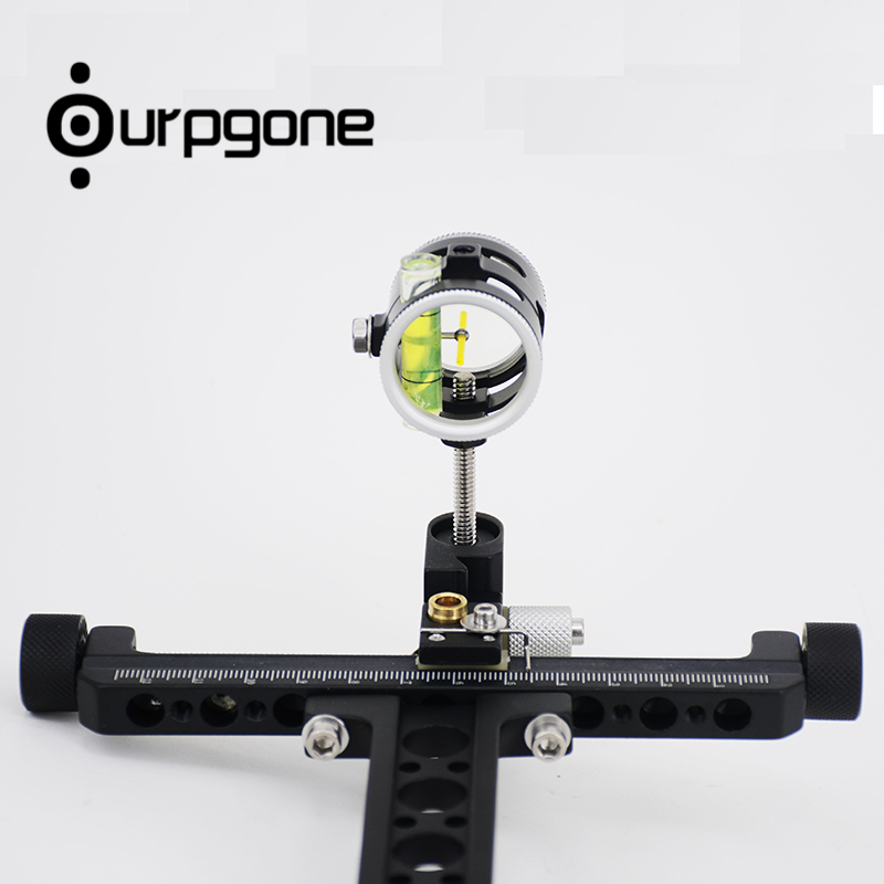 Ourpgone Brand 1*Hunting Compound Bow 1 Pin Bow Sight Aluminum Compound Bow Micro Adjust Long Pole Hunting Tools Free shipping! hunting bow