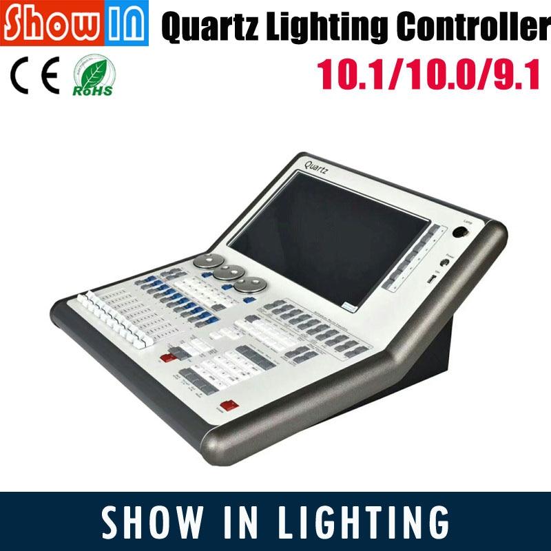 Quartz 10.1/10.0/9.1 DMX Stage Lighting Console DJ Disco Club Wedding Party Effect With Fligthcase OEM Order Free Shipping