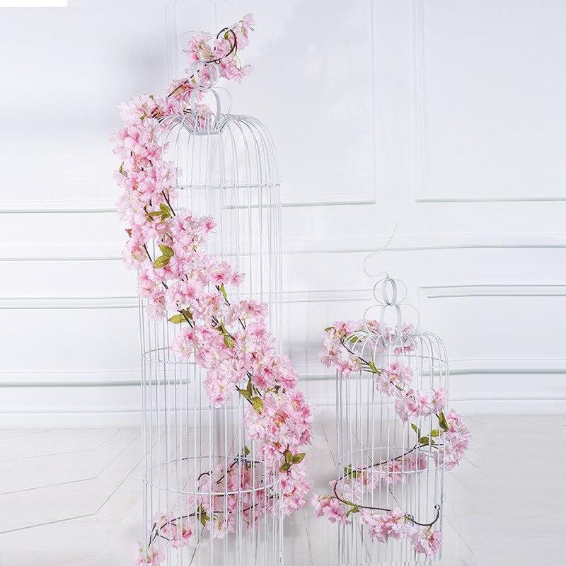 10 pcs 180 cm Kunstmatige Kersenbloesems Bloem Bruiloft Decoratie DIY Rotan Krans Simulatie bloemen wijnstok Party Home decor-in Kunstmatige & Gedroogde Bloemen van Huis & Tuin op  Groep 3