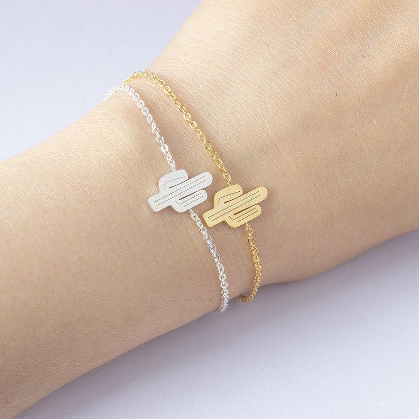 2018 nuovo s952 Sterlina del nastro cactus gioielli braccialetto popolare pianta tropicale creativo del braccialetto delle signore LB01