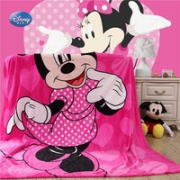 Dessin Animé Disney Rose Minnie Mickey Souris Doux Flanelle Couverture pour Les Filles Enfants Lit Canapé Canapé 150X200 cm Enfants Cadeau