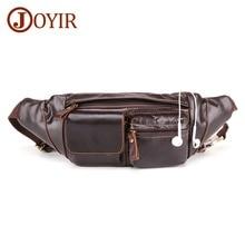 JOYIR New Design Mens Crossbody Bag Genuine Leather Men Waist Pack Casual Retro Male Shoulder Messenger Fashion Chest