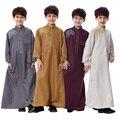 Бесплатная доставка исламская мусульманские дети абая thobes для мужчины аравия одежда mannen islamitische мальчика islamica ropa hombre TH874