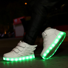 Children Glowing Sneakers Kid Luminous Size 25-33 for Boys Girls Led with Sole Lighted Shoes
