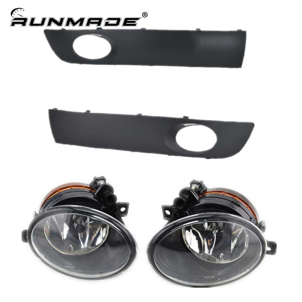 runmade For 2010+ VW Transporter T6/T5 Before Facelift Lower Bumper Grill Fog Cover Fog Light Lamp Set Left & Right Side free shipping new pair halogen front fog lamp fog light for vw t5 polo crafter transporter campmob 7h0941699b 7h0941700b