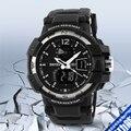 2017 Новый Открытый Мужчины Спортивные Часы SKMEI Марка СВЕТОДИОДНЫЙ Цифровой Кварцевый Многофункциональный Водонепроницаемый Военные Часы Платье Наручные Часы