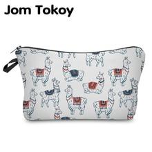 Jom Tokoy Cosmetic Organizer Bag Make Up Printing Llama Fashion Women Brand Makeup Hzb934