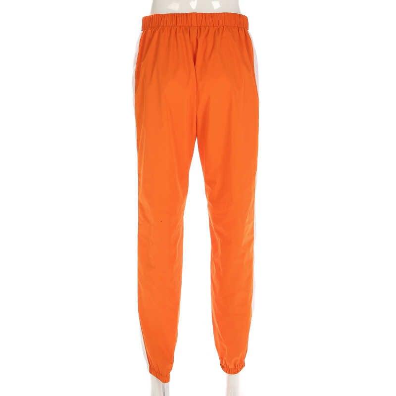 Weekeep женские брюки-карандаш с регулируемой пряжкой и высокой талией в стиле пэчворк с буквенным принтом модные плиссированные брюки для женщин