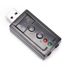 Мини Внешний 3D USB 2.0 Звуковая карта 7.1 канала виртуального 12 Мбит/с аудио для Динамик адаптер микрофон 3.5 мм Jack стерео гарнитура