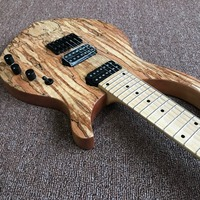 new arrival high quality Custom 7 strings Electric Guitar, Natural color, Spalted Maple Top,Real photo showing