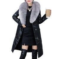 Пальто с мехом зимняя женская обувь высокого качества из искусственного лисьего пальто с мехом женская кожаная куртка длинные меховые один