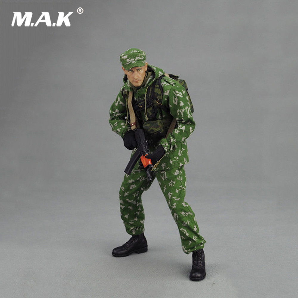 1/6 Scale Russian VDV Scout Soldier Limited Clothing Weapon Models Equipment Set For 12 Inches Action Figures ap002 1 6 scale 45th president of the united states donald trump figures and clothing set