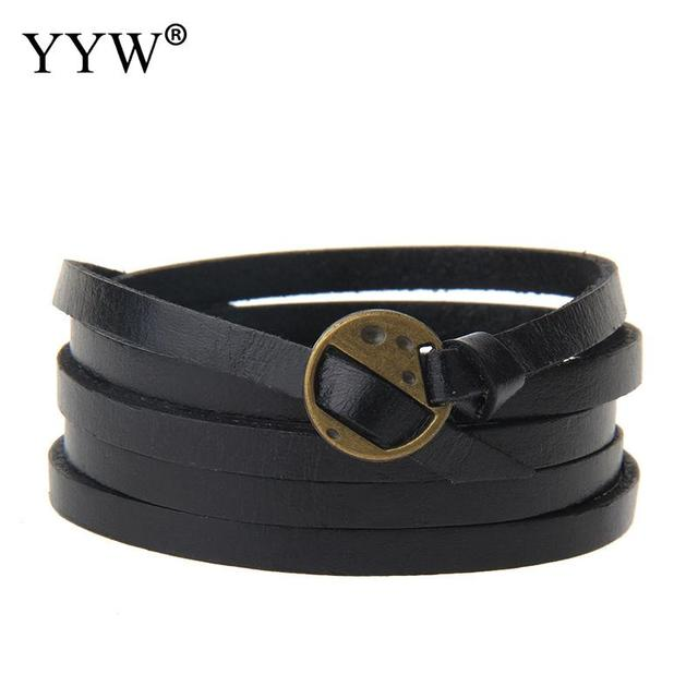 Multilayer PU Leather Snap...