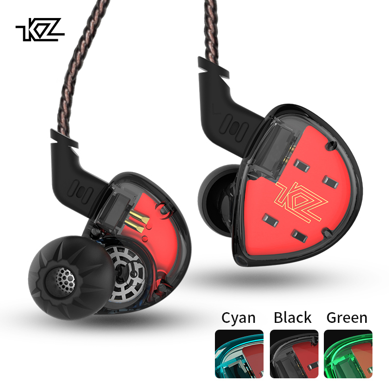 цена KZ ES4 In Ear Monitors Armature And Dynamic Hybrid Headset Ear Earphone Earbuds HiFi Bass Noise Cancelling Ear Hooks Headphones