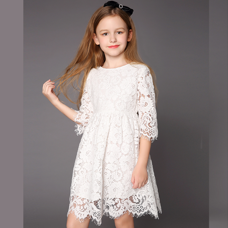 Girls lace dress children's clothing spring and summer 2018 new girls big children princess dress zmj0255 winter spring summer autumn children clothing lace flower girl tutu princess dress girls dress