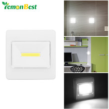 Lemonbest Ultra Bright Magnetic COB LED Wall Light Night Lights Camp Lamp Battery Operated Switch Magic Tape for Garage Closet(China)