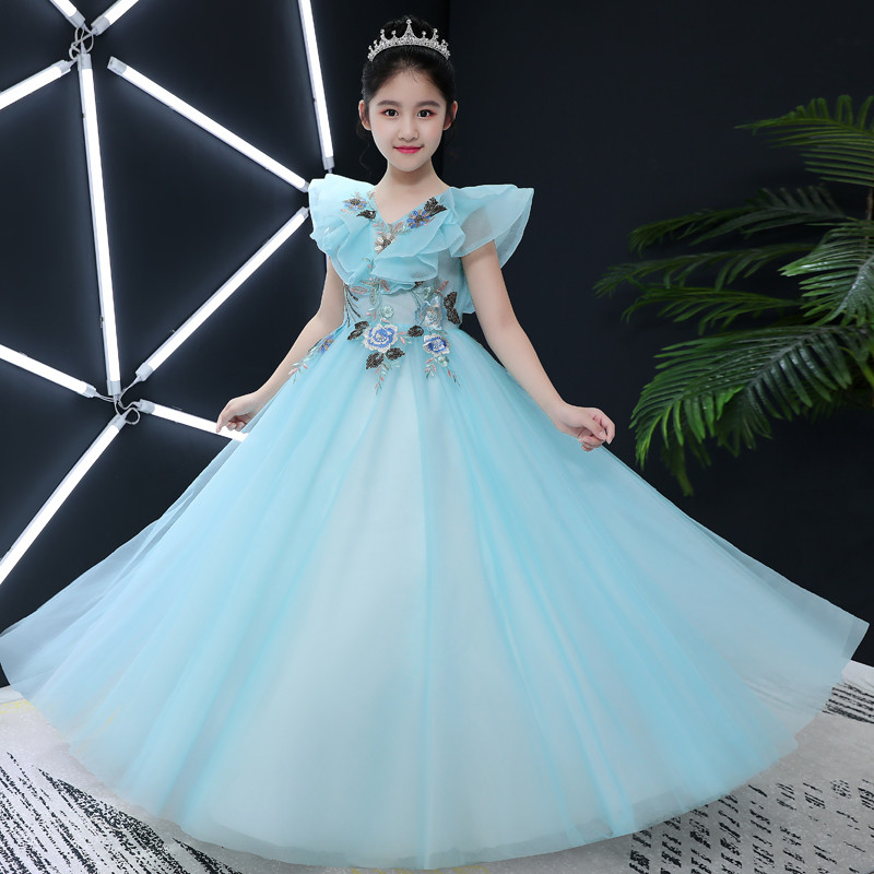 Elegant Princess Flowers Girl Dress Summer Tutu Wedding Birthday Party Dresses For Girl Children's Costume Teenager Prom Designs princess flower girl dress summer tutu wedding birthday party dresses for girls children s costume teenager prom designs