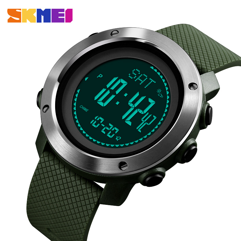 Outdoor Sports Men Women Watches Climbing Height Pressure Compass Pedometer Stopwatch Electronic Watch Relogio Masculino SKMEI outdoor sports watches men skmei brand countdown led men s digital watch altimeter pressure compass thermometer reloj hombre